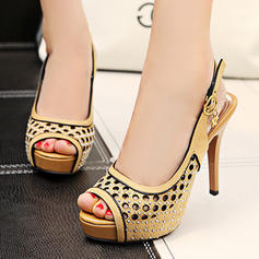 Dla kobiet PU Obcas Stiletto Czólenka Platforma Z Klamra obuwie