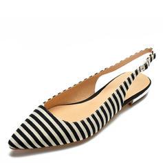 Donna Tessuto Senza tacco Sandalo Ballerine scarpe