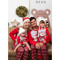 Santa Plaid Family Matching Christmas Pajamas