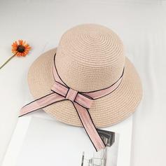 Ladies' Unique Raffia Straw With Bowknot Beach/Sun Hats