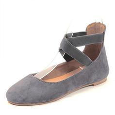 Femmes Suède Talon plat Sandales chaussures
