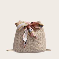 Elegant/Gorgeous/Unik halm Crossbody Väskor/Axelrems väskor/Hinkväskor
