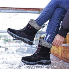Жіночі Замша Низький каблук Чоботи середньої довжини з Зашнурувати взуття