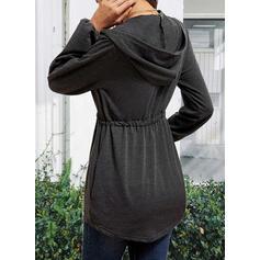 Jednolity Dekolt w kształcie litery V Długie rękawy Nieformalny Bluzki