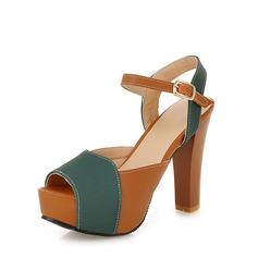 Női Szarvasbőr Tűsarok Szandál Emelvény Peep Toe Zárt szandál cipő