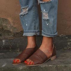 Kvinder PU Flad Hæl sandaler Fladsko med Andre sko