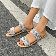 Women's Leatherette Flat Heel Sandals Flats Slingbacks Slippers shoes