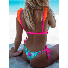 Floral Low Waist Strap Sexy Cute Bikinis Swimsuits