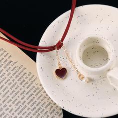 En forme de coeur Alliage De faux pearl Colliers