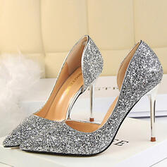 Sprankelende Glitter Stiletto Heel Closed Toe Pumps met Anderen