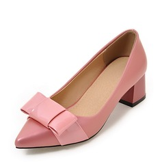 De mujer Ante Tacón ancho Salón con Bowknot zapatos