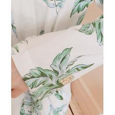 Gola V Manga Comprida Impressão Casual Conjuntos de calças e tops