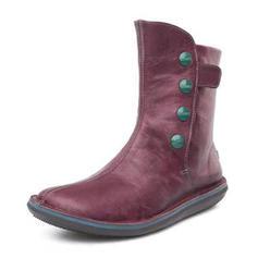 Frauen PU Flascher Absatz Stiefel mit Reißverschluss Schuhe
