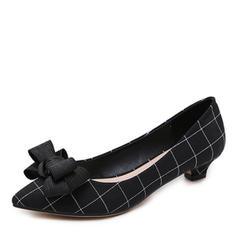 Donna Panno Tacco basso Stiletto Punta chiusa scarpe