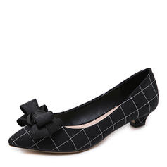 Women's Cloth Low Heel Pumps Closed Toe shoes