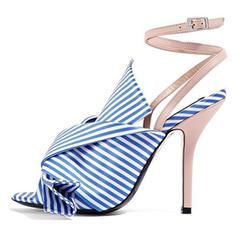Vrouwen Stof Stiletto Heel Pumps Peep Toe met Gesp schoenen