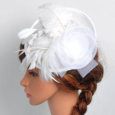 Signore Bella/Elegante Cotone con Piuma/Fiore di seta/Tyll Fascinators/Kentucky Derby Hats/Cappelli da Tea Party