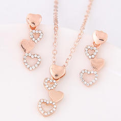 Fashionable Alloy Rhinestones Ladies' Jewelry Sets