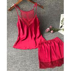V-Neck Sleeveless Solid Color Stylish Cami & Short Sets