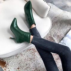 Femmes Similicuir Talon stiletto Escarpins Bout fermé Bottes Bottines avec Zip chaussures