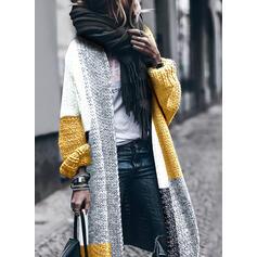 Color block Casual Lang Cardigan