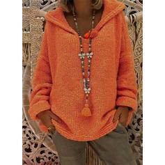 Jednolity Bluza z kapturem Swetry