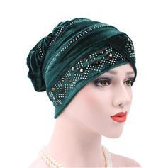 Dames Style Classique Coton avec Strass Disquettes Chapeau