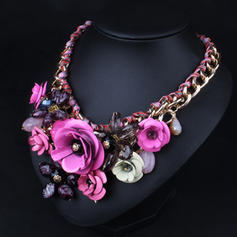 Fashionable Alloy Resin Ladies' Fashion Necklace