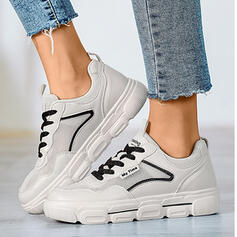 Women's Leatherette Mesh Casual Outdoor Athletic With Lace-up shoes