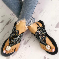 Women's PU Flat Heel Sandals Flats Peep Toe With Hollow-out shoes