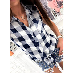 Print Lapel Sleeveless Button Up Casual Tank Tops
