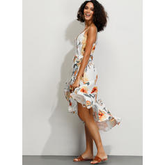 Print/Floral Sleeveless A-line Asymmetrical Casual/Party/Vacation Dresses