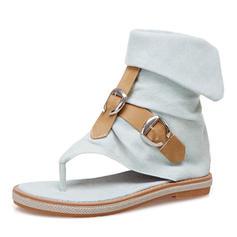 Pentru Femei Blug Fară Toc Sandale Balerini Puţin decupat în faţă cu Cataramă pantofi
