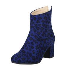 Femmes Suède Talon bottier Bottes avec Autres chaussures