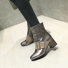Dla kobiet PU Obcas Slupek Czólenka Kozaki Botki Z Klamra Zamek błyskawiczny obuwie