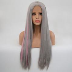 Egyenes Szintetikus haj Csipke front parókák