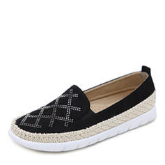 Frauen Veloursleder Flascher Absatz Flache Schuhe Geschlossene Zehe Schuhe