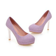 Femmes Pailletes scintillantes Talon stiletto Escarpins Bout fermé chaussures