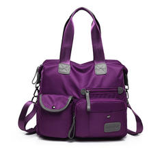 Solid Color Nailon Crossbody-pussit