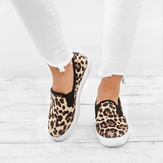 Women's PU Flat Heel Flats With Animal Print shoes