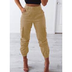 tasche arricciato Taglia grossa Lungo Casuale Tribal Pantaloni