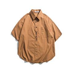 Pour des hommes Couleur unie hawaïen Chemises de plage