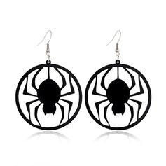 Halloween Zucca Ragno Spider Net Strega lega Orecchini 2 pezzi