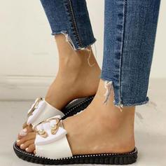 Frauen PVC Flascher Absatz Sandalen Flache Schuhe Peep Toe mit Andere Schuhe