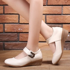 Women's Real Leather Flats Ballroom Dance Shoes