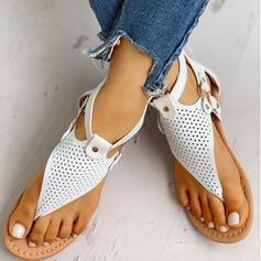 Frauen PU Flascher Absatz Sandalen Peep Toe mit Schnalle Reißverschluss Schuhe