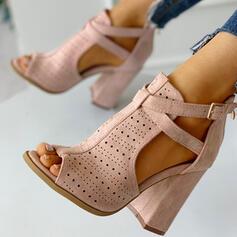 Сандалі взуття на короткій шпильці з Пряжка В'язаний одяг взуття