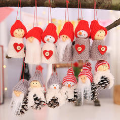 Table Gnome Merry Christmas Snowman Hanging Cloth Christmas Pendant Doll Christmas Décor (Set of 3)