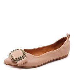 Kvinnor Konstläder Flat Heel Platta Skor / Fritidsskor Stängt Toe med Button skor