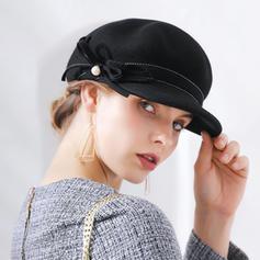 Señoras' Moda/Glamorosa/Pretty Madera Disquete Sombrero